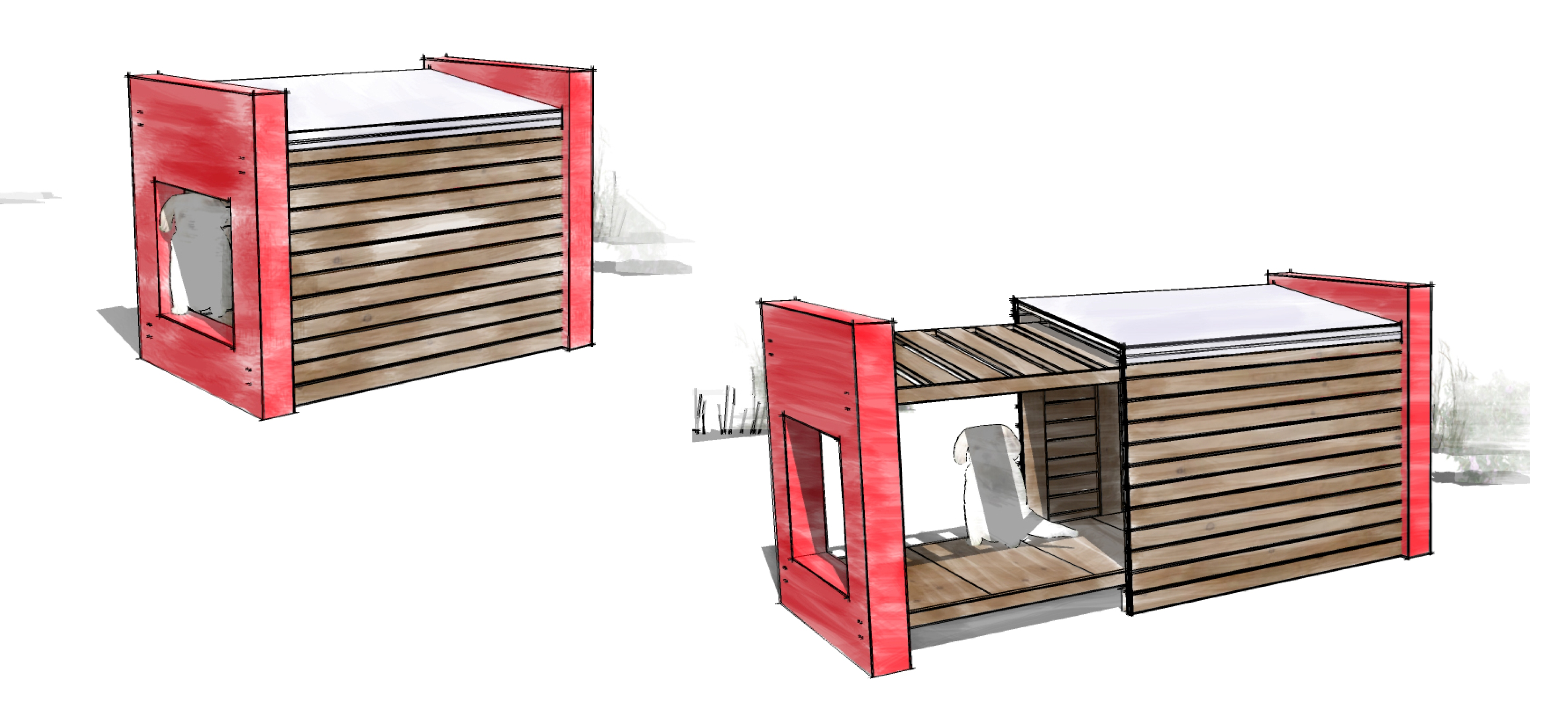 How To Build A Detached Garage moreover Blueprints For Building A Shed in addition Casinha De Cachorro further Man Made Maggie Teardrop Trailer Maggie Dog besides Largechickencoops. on plywood dog house plans