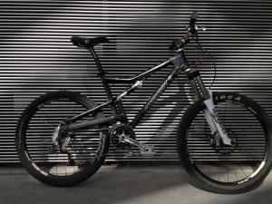 A dusty trail bike