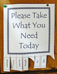 Take what you need2